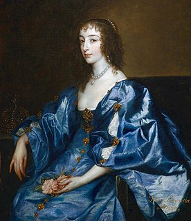 Henrietta Maria of France queen consort of England, Scotland, and Ireland as the wife of King Charles I