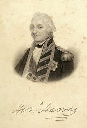 Henry Harvey - Admiral Sir Henry Harvey, engraved by Samuel Freeman c. 1810