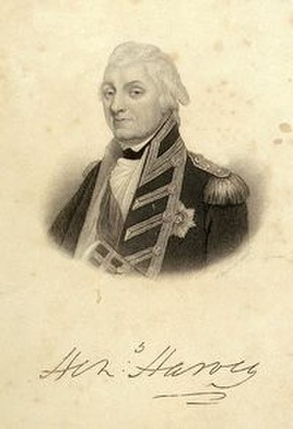 Henry Harvey - Admiral Sir Henry Harvey, engraved by Samuel Freeman c. 1810