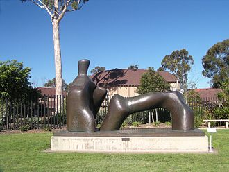 May S. Marcy Sculpture Garden - Henry Moore's Reclining Figure: Arch Leg