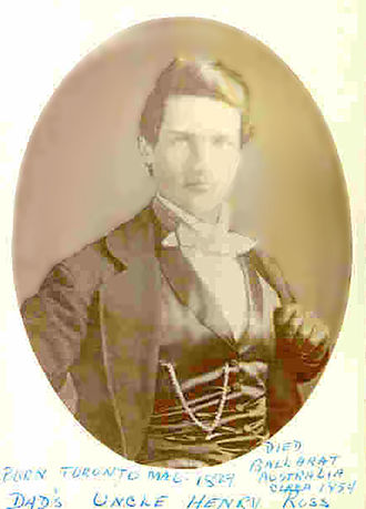 Henry Ross - Captain Henry Ross, in a photo displayed by the Bendigo Fine Art Gallery
