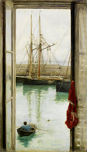 Henry Scott Tuke - Harbour Dielette, Normandy.jpg