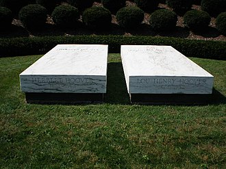 Herbert Hoover Presidential Library and Museum - Graves of Herbert Hoover and Lou Henry Hoover