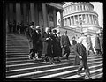 Herbert Hoover and group leaving U.S. Capitol, Washington, D.C. LCCN2016890032.jpg
