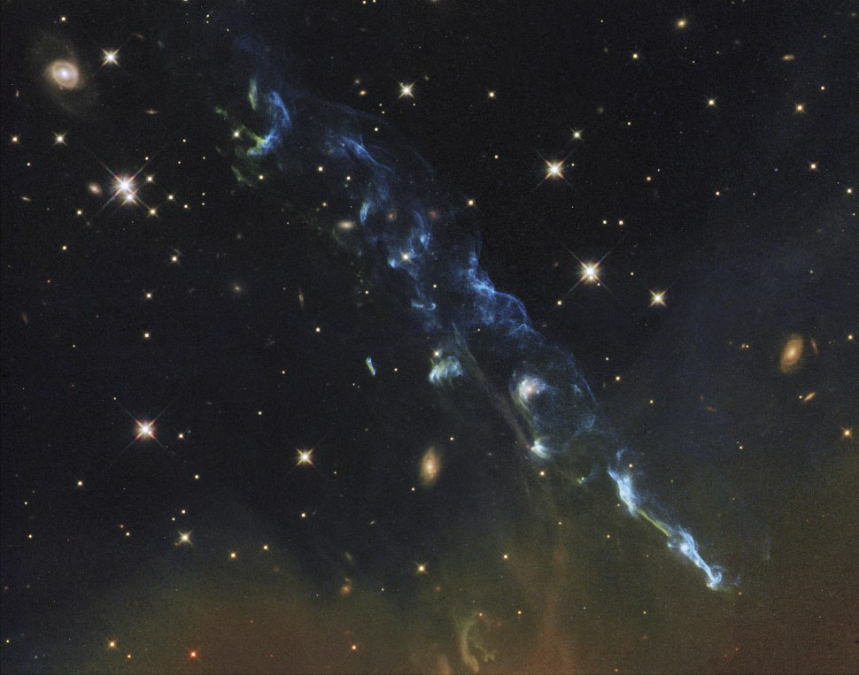 Herbig-Haro 110 (captured by the Hubble Space Telescope)