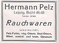 Herrmann Pelz, Leipzig, Brühl, Rauchwaren, Anzeige 1926.jpg