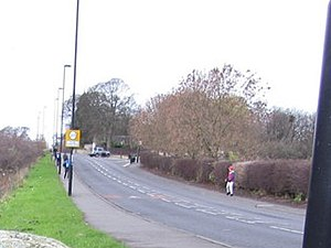 Milecastle 10 - Image: Hexham Road, Walbottle geograph.org.uk 3762164 cropped