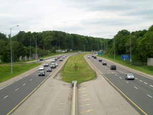 Conestoga Parkway - The Conestoga Parkway facing northbound at the Kitchener–Waterloo boundary