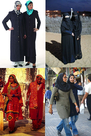 Examples of hijabs in different regions