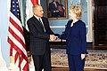 Hillary Clinton with Ahmed Ali Aboul Gheit, February 2009.jpg