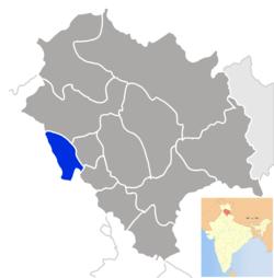 Vị trí của Huyện Una