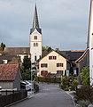Hinterdorfstrasse und Evangelische Kirche Tägerwilen.jpg