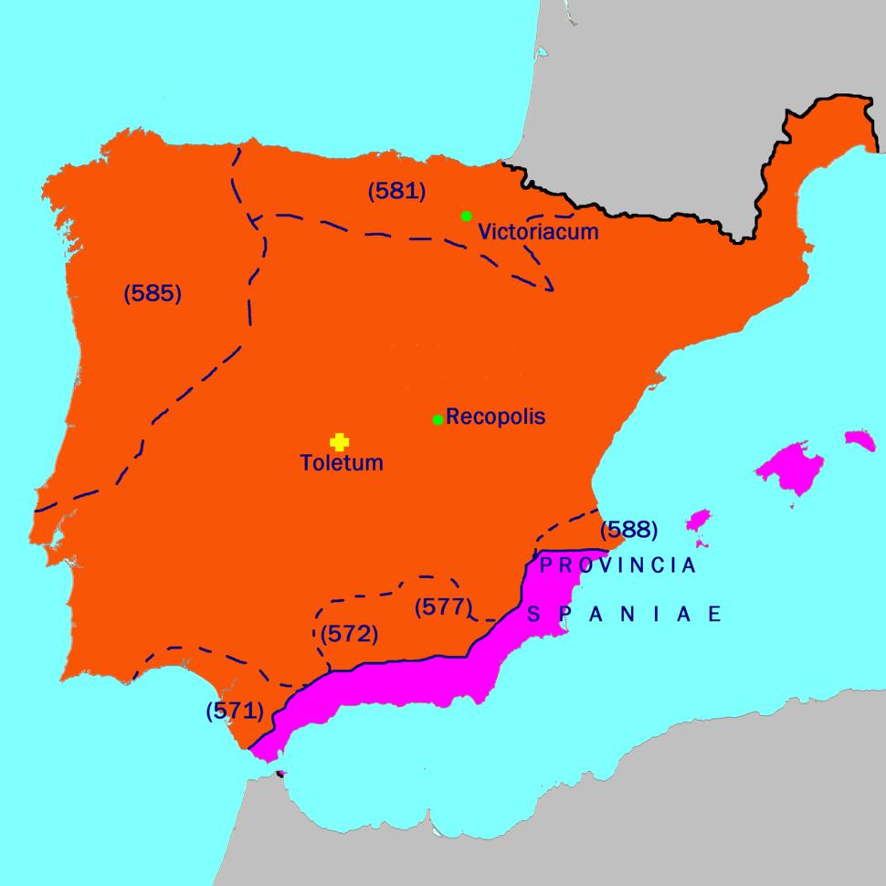 Hispania 586 AD