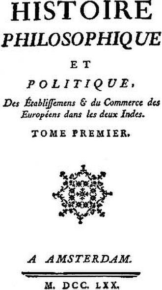 Guillaume Thomas François Raynal - Image: Histoiredesdeuxindes