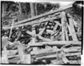 Historic American Buildings Survey J. C. Fletcher, Photographer GENERAL VIEW OF MILL WRECKAGE - James Saw Mill, Narrows Brook, Northwood Narrows, Rockingham County, NH HABS NH,8-NORNA,1-3.tif