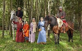 Historical stylization — Slavic of the 12-13th centuries, Karoling Club Ruza.jpg