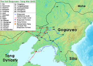 First conflict of the Goguryeo–Tang War