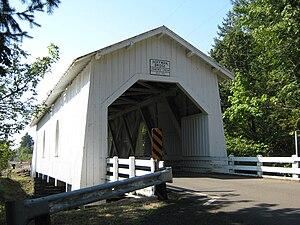 Crabtree Creek (South Santiam River tributary) - Hoffman Bridge over Crabtree Creek