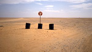 Trans-Sahara Highway - Road sign in Niger