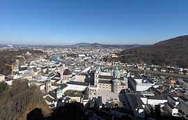 View at Salzburg from Hohensalzburg Fortress