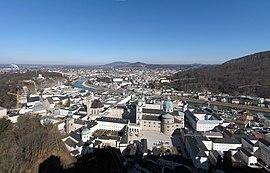 Salzburg rigardita de la Festung Hohensalzburg