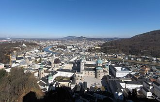 Salzburg - Salzburg viewed from the Festung Hohensalzburg
