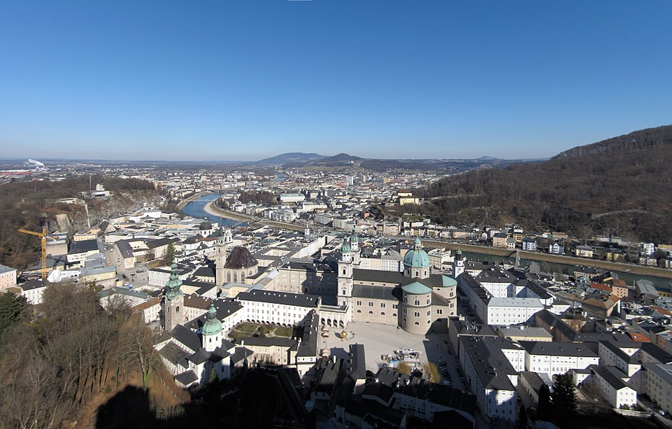 View at Salzburg from Hohensalzburg Fortress