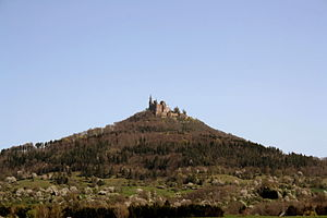 Hohenzollern (mountain) - View from Southwest