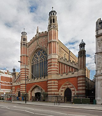 Holy Trinity, Sloane Street - Holy Trinity as viewed from Sloane Street