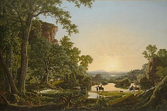 Thomas Hooker - Hooker and Company Journeying through the Wilderness from Plymouth to Hartford, in 1636, Frederic Edwin Church, 1846