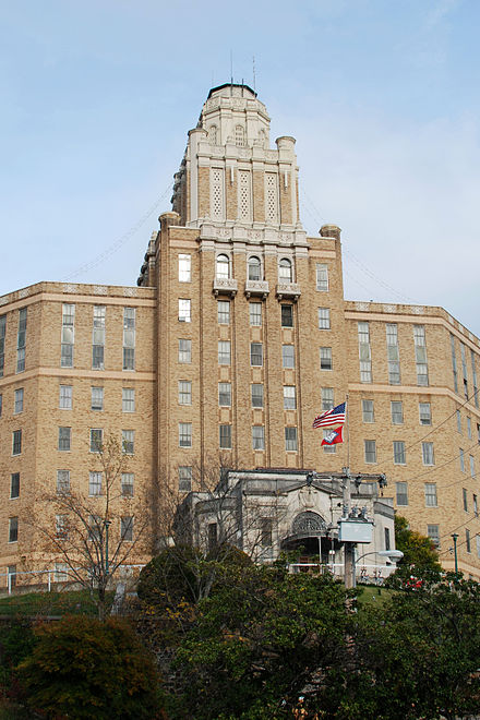 Hot Springs Rehabilitation Center--now known as Arkansas Career Training Institute--was formerly an Army and Navy Hospital. Hot Springs Rehabilitation Center.jpg