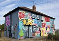 House graffiti, Preston Road, Hull (3) (geograph 5862683).jpg