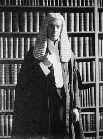 Hugh Macmillan, Baron Macmillan - Lord Macmillan, bewigged