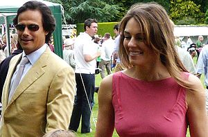 Elizabeth Hurley - Hurley with her then husband Arun Nayar at the Ampney Crucis Village Fete in 2008