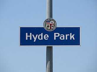 Hyde Park, Los Angeles - Image: Hyde Park Signage