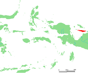Yapen - Location of Yapen island in Cenderawasih Bay