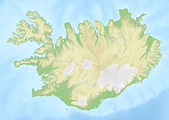 Map showing the location of Eyjafjallajökull