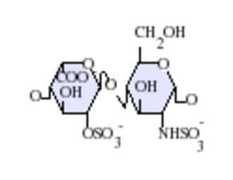 Heparan sulfate - Image: Ido A(2S) Glc NS