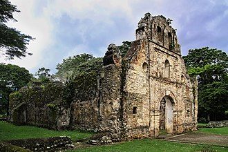 Costa Rica - The Ujarrás historical site in the Orosí Valley, Cartago province. The church was built between 1686 and 1693.
