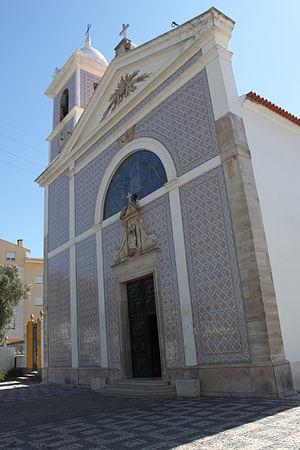 Esgueira - The front facade of the Baroque era parochial Church of Santo André