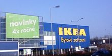 An IKEA store in Cerny Most, Prague .
