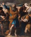 Il re Tiridate implora san Gregorio perché gli vengano restituite sembianze umane (dettaglio) - F. Fracanzano.png