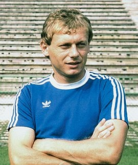 Ilie Balaci, a member of both Universitatea golden teams and named Romanian Footballer of the Year in 1981 and 1982. Ilie Balaci 2.jpg