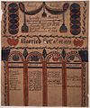 Illustrated family record (Fraktur) found in Revolutionary War Pension and Bounty-Land-Warrant Application File... - NARA - 300098.jpg
