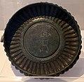 Imitazione etrusca di una patera baccellata di tipo orientale, in bronzo, dalla tomba barberini a palestrina, 700-650 ac ca. (museo villa giulia).jpg