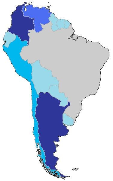 Immigration of South America to Brazil