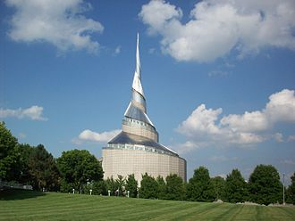 Independence Temple - The Temple as seen from the Temple Lot.