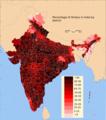 India Hindu district map 2011.png