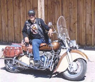 Sturgis Motorcycle Rally - Indian Ed Spilker, One of the original Jackpine gypsies and cofounder of the Sturgis Motorcycle Rally
