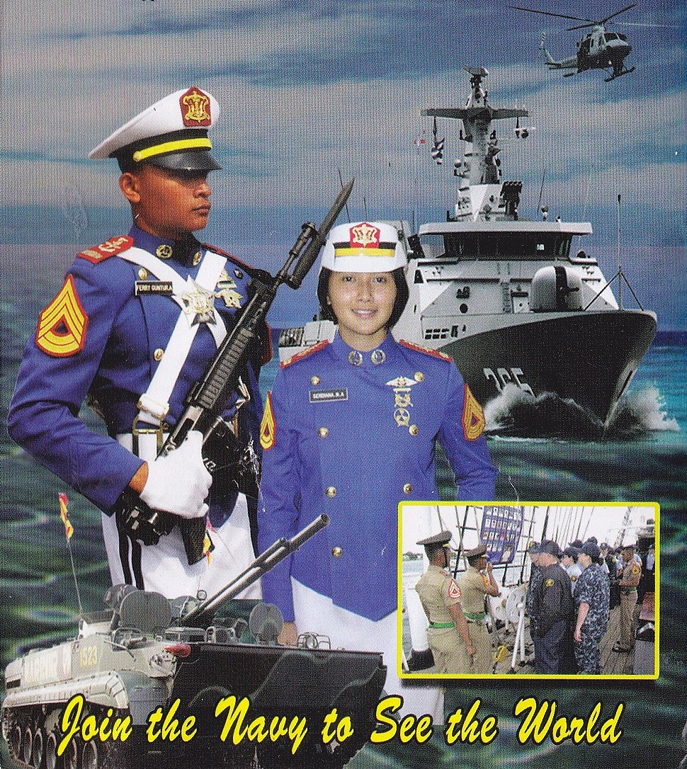 Indonesian Naval Academy promotional recruiting poster